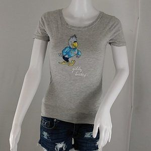 Gilly Hicks Gray Gilly Parrot Tee Shirt